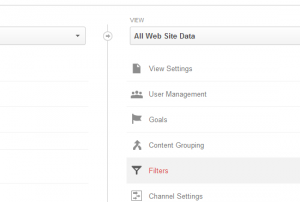 select goals google analytics