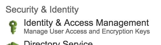 Amazon fundamentals IAM icon