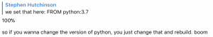 docker-change-python-version