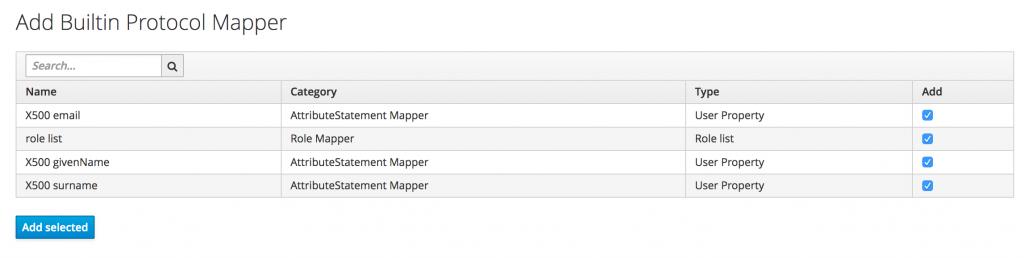 builtin-attrbutes-mapper-saml-keycloak