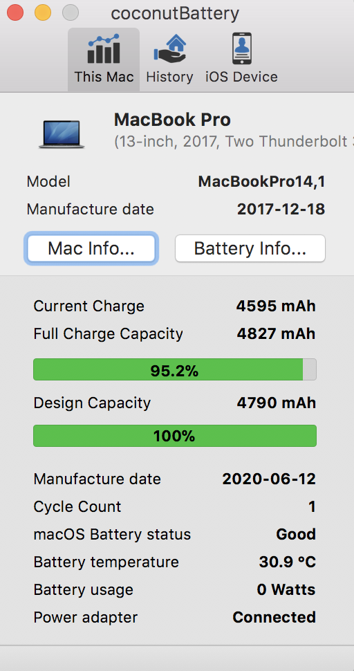 New battery capacity